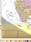 Political and Road Map of India Laminated w/ Hanging Rods Wall Map 28in x 38 in
