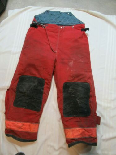 44 X 30 Globe GX-7  Firefighter PANTS Turnout BUNKER GEAR RESCUE RED FIRE TOWING