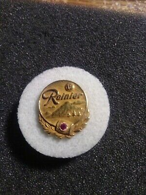 Rainier Beer 15 year 14k service award pin
