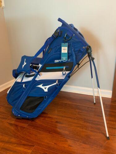NEW! ~ Mizuno BR-D4 Stand Golf Bag ~ Classic Mizuno Blue and White