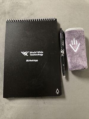 Rocketbook Black Smart Notebook Executive Size 6 X 8.8 Pilot Frixion Pen