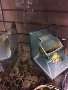 Vintage Roseville bookends planters