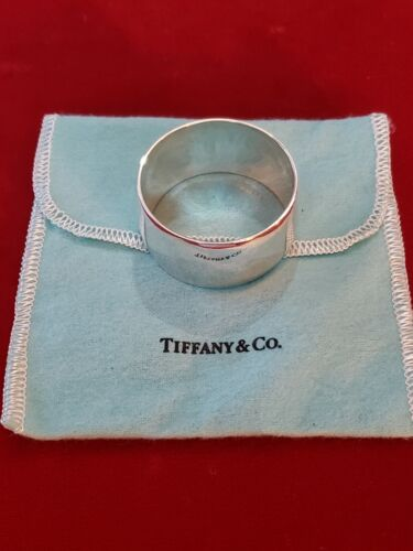 Gently Used Tiffany Sterling Napkin  Ring No Monogram Clean w/Pouch