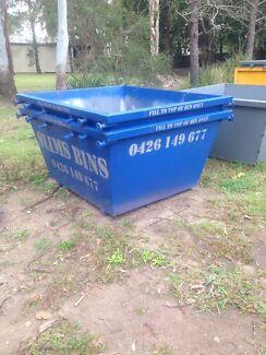 Skip Bins 2,3&4 cube bins one of Logan's cheapest