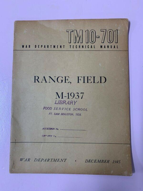War Department Technical Manuel, Range, Field M-1937, TM-10-701 December 1945