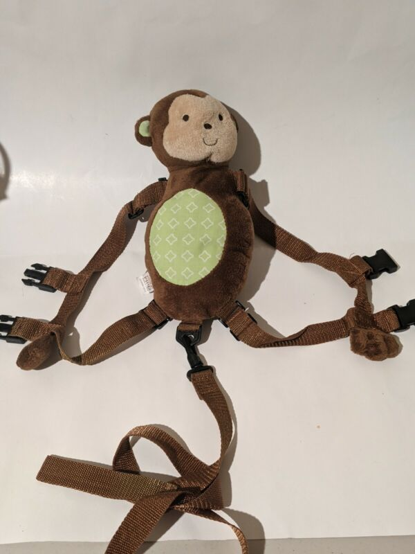 Child Of Mine Made By Carter's Toddler Safety Harness Leash Brown Monkey