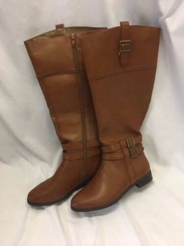 Toetos New York Diane Riding Boots Womens 7 1/2W Brown Synth