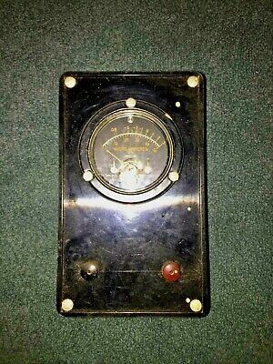 Vintage Weston Microamperes Panel Meter In Bakelite Case Model 1521