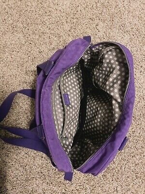 Kipling Alanna Diaper Bag, Stroller Clips, Zip Closure, Light Purple