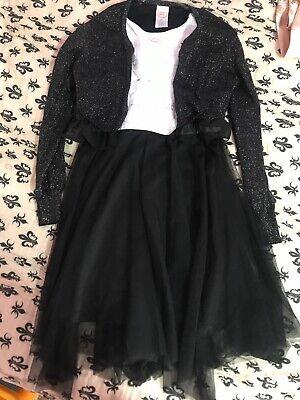 Little Girl Dresses Size 8 (WONDER NATION SIZE 7/8 LITTLE GIRL DRESSY DRESS BLACK & WHITE SUPER)