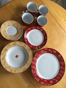 Plates , saucers, bowl, cup set