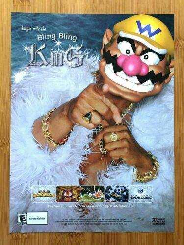 Wario World Nintendo Gamecube 2003 Print Ad/Poster Official Authentic Game Art