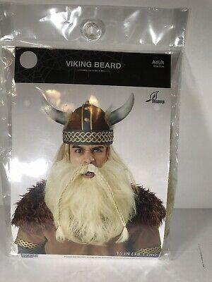 Viking Beard Costume (Viking Beard Blonde Halloween Costume Accessory New)