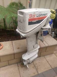 Johnson 9.9 HP. Outboard Semaphore South Port Adelaide Area Preview