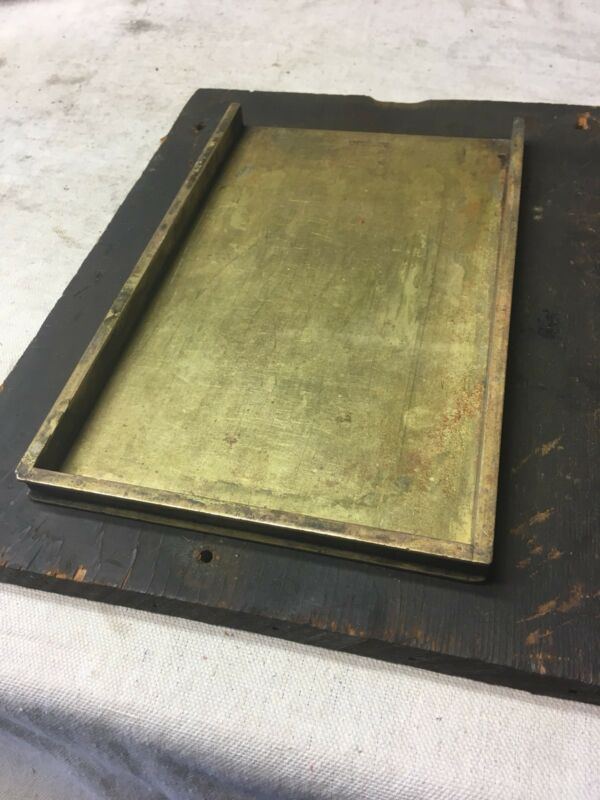 Antique Letterpress Brass Bronze Galley Tray HC Hansen Type Typeset Rare