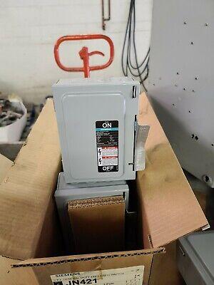 Siemens Safety Disconnect Switch 30amp 3ph 240v Jn421