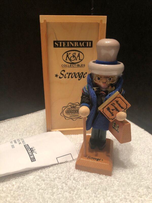 "Steinbach Nutcracker A Christmas Carol Series ""Ebenezer Scrooge"" Wooden Box"