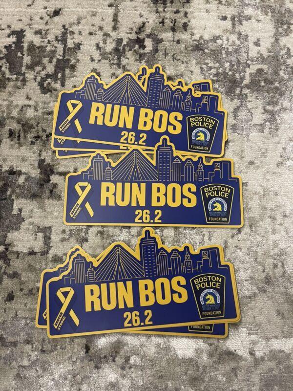 Boston Police Foundation Boston Marathon Car Bumper Stickers 2021 CHARITY