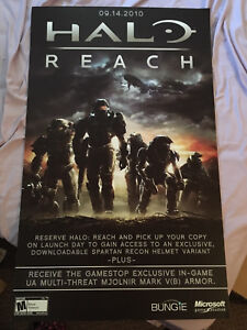 Halo Reach poster , mounted