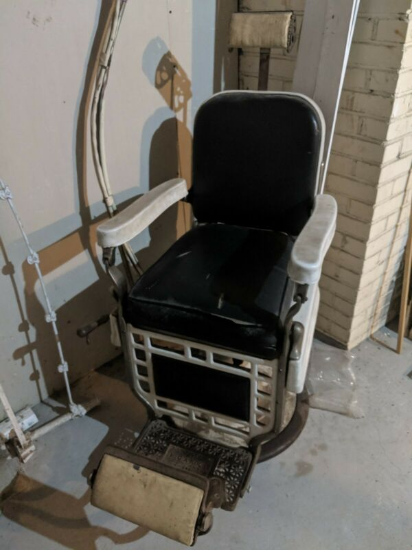 Antique Theo-A-Kochs Barber Chair with Headrest