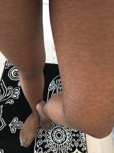 Hauchdünne Cerruti Leoparden Look Strumpfhose Leggings Gebraucht Gr 36/38 S / M