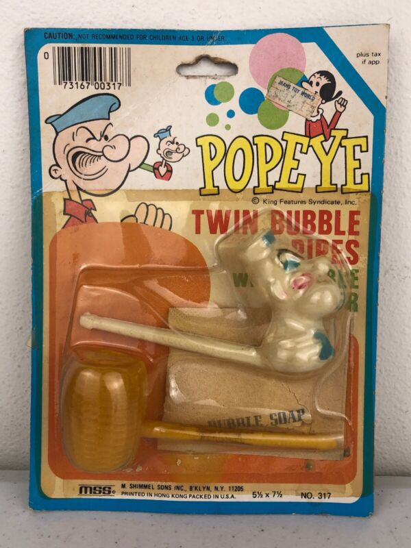 Vintage Popeye The Sailor Twin Bubble Pipes Sealed