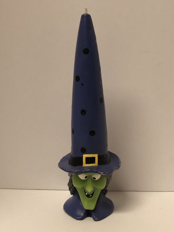 """VINTAGE HALLOWEEN WITCH CANDLE - MEASURES ALMOST 11"""" TALL!!!"""