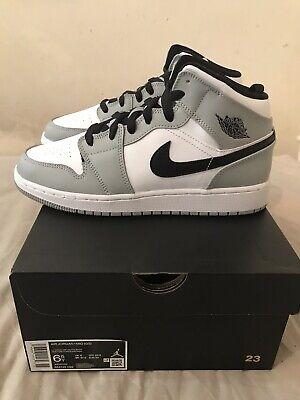 Nike Air Jordan 1 Mid Smoke Grey GS UK6/US6.5Y