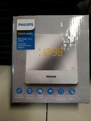 Philips AJ3231/37 Mirror Finish Dual Digital Alarm Clock AM/FM Radio