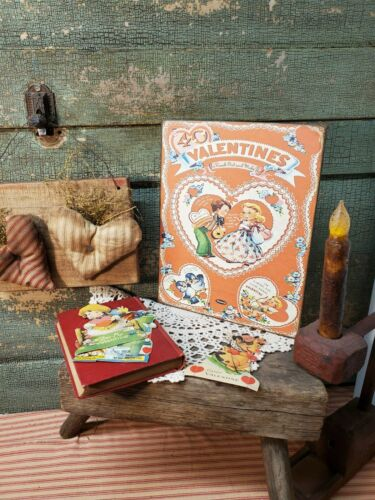 VINTAGE 1940 STYLE VALENTINE HEART CARD PACKAGE BOX ADVERTISING WHITMAN SIGN