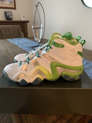 adidas Crazy 8 New With Tags In Box. Size 10.5 White Silver And Green.