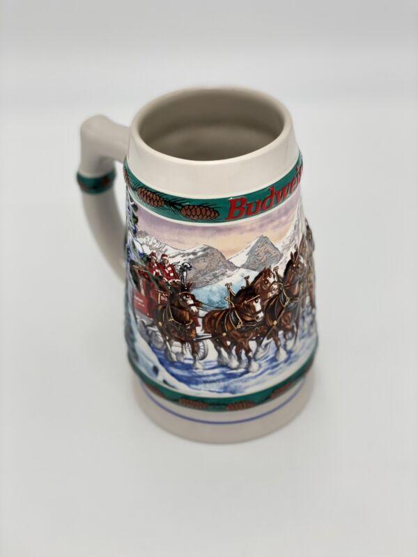 1993 Budweiser Holiday Stein 'Special Delivery' Anheuser-Busch Ceramarte