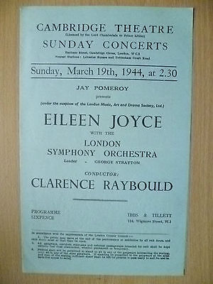 CONCERTS-EILEEN JOYCE with LONDON SYMPHONY ORCHESTRA~CLARENCE RAYBOULD