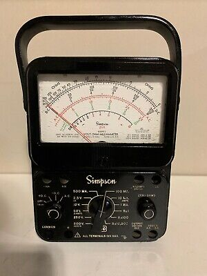 Simpson 260 Series 6p Analog Volt-ohm-milliammeter Vom Multi-meter