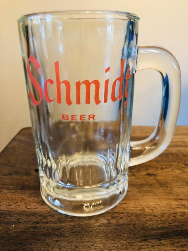 Vintage Schmidt Beer Mug Glass