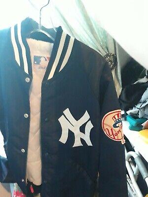 Vintage Starter  New York Yankees Bomber Jacket Navy Blue MLB  Large. Excellent!