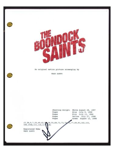 Norman Reedus Signed Autographed THE BOONDOCK SAINTS Movie Script Screenplay COA