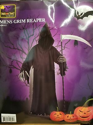 Grim Reapers Costumes (Men's Grim Reaper Halloween Costume One Size Standard fits most Adults)