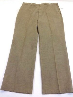 FARAH CLOTHING CO. MENS HEATHERED KHAKI PANTS POLY BLEND SIZE 40 X 30