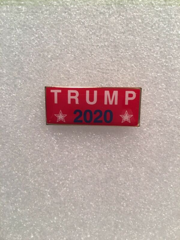 Trump 2020 MADE IN USA President DONALD J TRUMP Patriotic Lapel Pin RED