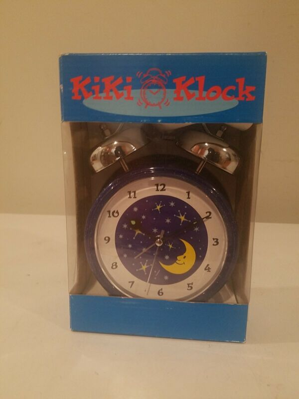 Vintage-Style Metal Table Clock Classic Double Bell Look. Kiki klock