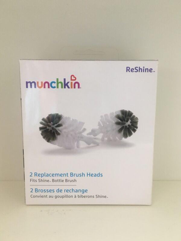 Munchkin ReShine 2 Replacement Bottle Brush Heads. FREE SHIPPING