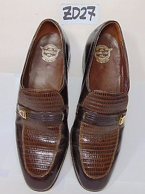 VINTAGE MID-CENTURY FLORSHEIM SHOES SIZE 8 C MENS H3223X SLIP-ONS LOAFERS DRESS