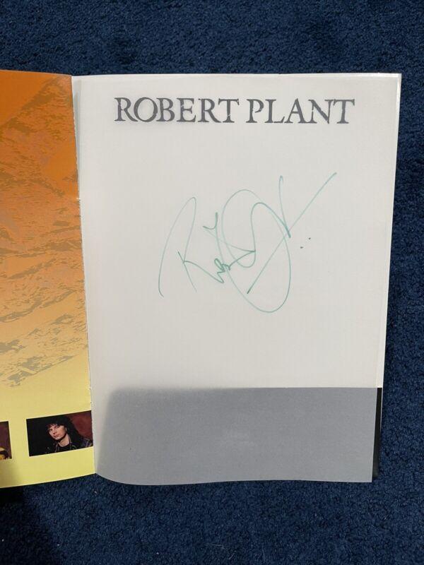 Robert Plant Manic Nirvana Signed Program JSA LOA Led Zeppelin Signed Twice!