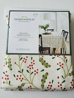 "Threshold Oblong Table Cloth 60"" X 120"" New for sale  Shipping to India"