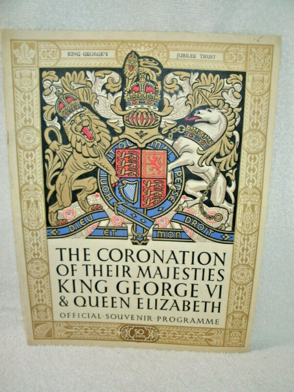 1937--Coronation of Their Majesties-King George VI & Queen Elizabeth--Souv.Prog
