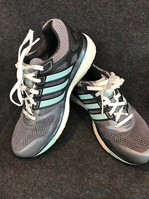 (Womens ADIDAS SUPERNOVA GLIDE BOOST gray running athletic shoes Size 5.5 )