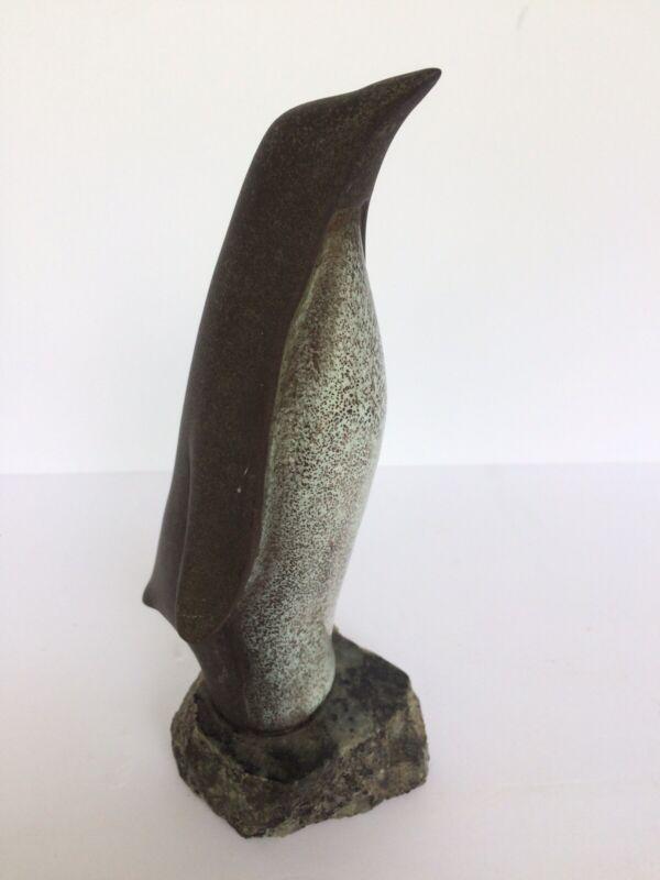 "Maigon Daga Penguin Figurine 8.5"" Tall Signed on Granite Base NICE!"