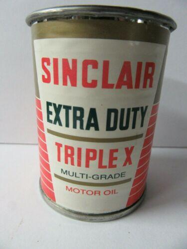 Vintage Sinclair Extra Duty Triple X Multi-Grade Motor Oil Metal Bank  - GL19