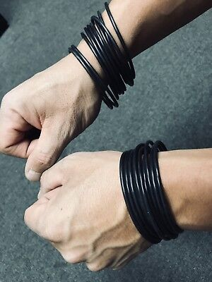 New High Quality 20 Piece Black Silicone Jelly Bracelet